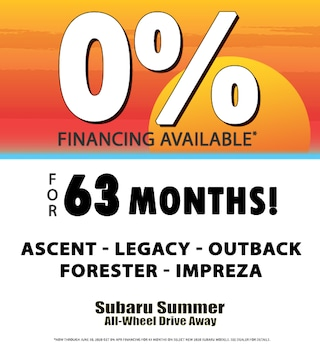 0% APR Financing** for 63 months