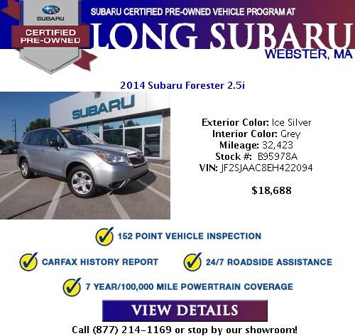 Subaru Certified Pre Owned 2 >> Subaru Certified Pre Owned Specials Certified Used Subaru