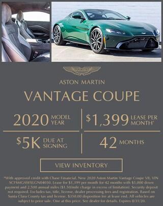 New Aston Martin Vantage Lease