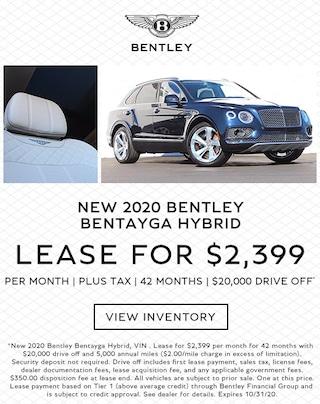 Bentley Bentayga Hybrid Lease in Los Gatos, CA