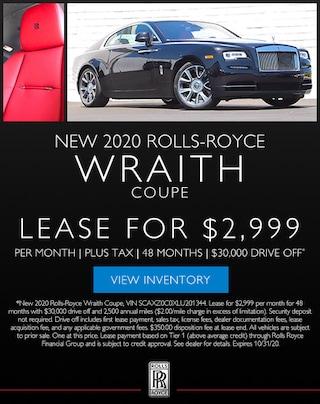 Rolls-Royce Wraith Lease in Los Gatos, CA