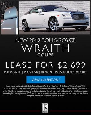 New 2019 Rolls-Royce Wraith