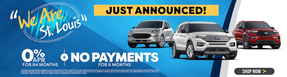 No Payments for 6 Months + 0% APR for 84 Months!