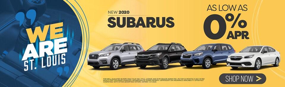 New 2020 Subarus