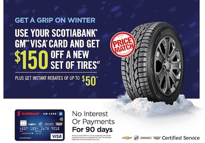 Save on Tires with GM Visa