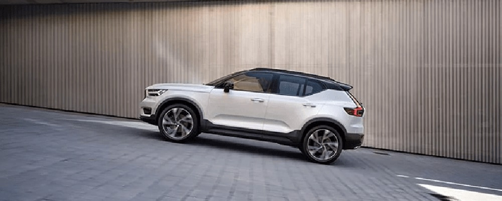 2018 Volvo XC40 on a slope banner