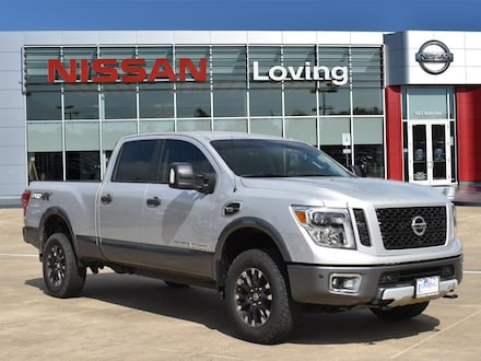 Featured Pre Owned 2019 Nissan Titan XD PRO-4X Gas Truck Crew Cab for sale near you in Lufkin, TX