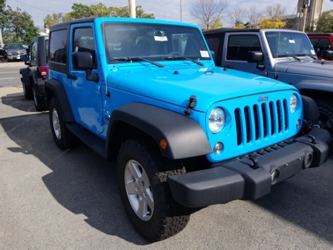 new 2017 Jeep Wrangler Sport 4x4 SUV for sale in Syracuse NY