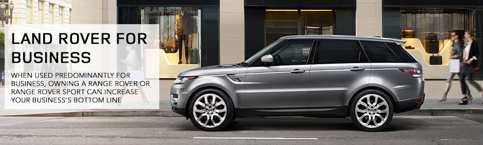 Business Tax Advantage Land Rover Hunt Valley