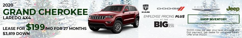 December 2020 Jeep Grand Cherokee Offer