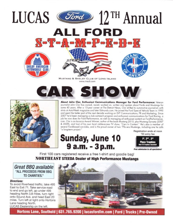 Lucas Ford New Ford Dealership In Southold NY - Ramp ford car show