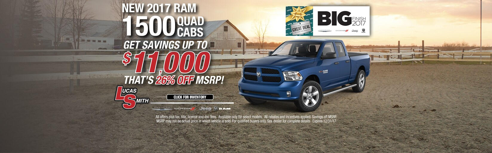 2017 RAM 1500 Quad Cab December Deals
