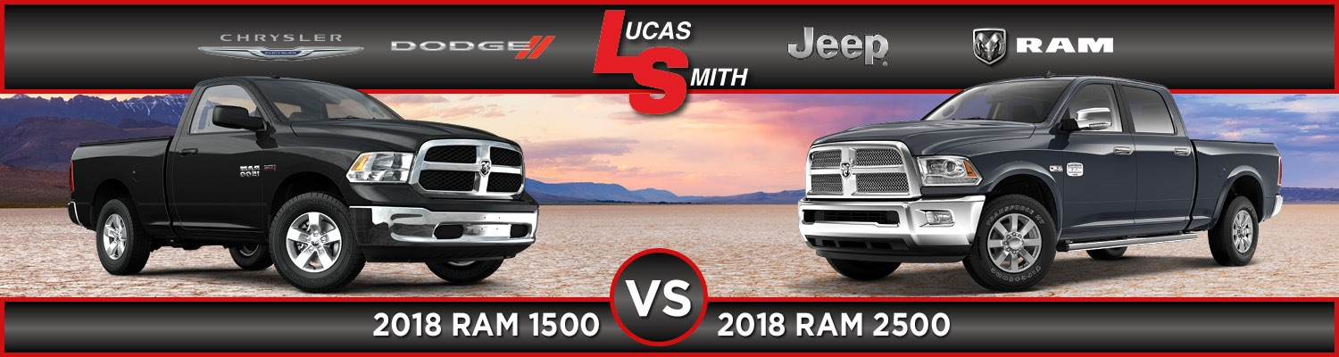 2018 ram 1500 vs 2018 ram 2500 comparison