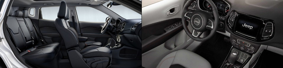 2019 Jeep Compass Interior side view & dashboard