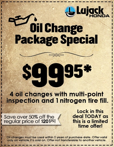 Oil Change Package Special