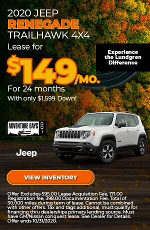 October 2020 Jeep Renegade Trailhawk 4x4