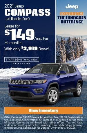 January | 2021 Jeep Compass | Lease