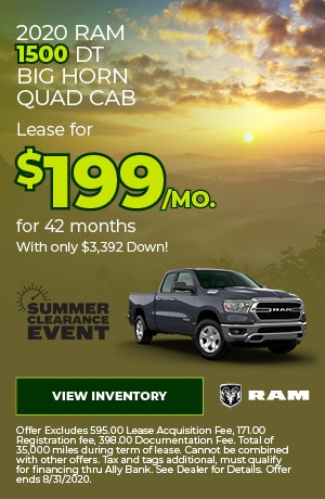 August | 2020 Ram 1500 | Special