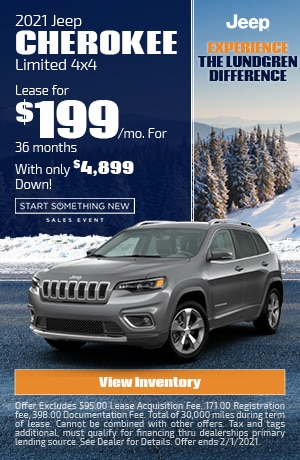 January | 2021 Jeep Cherokee Limited | Lease