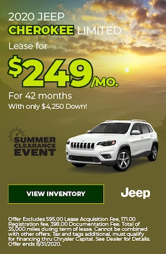 August | 2019 Jeep Cherokee Limited | Special
