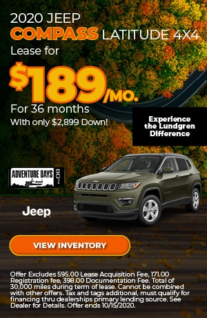 October 2020 Jeep Compass Latitude 4x4