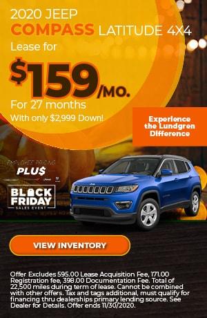 November | 2020 Jeep Compass Latitude 4x4 | Lease