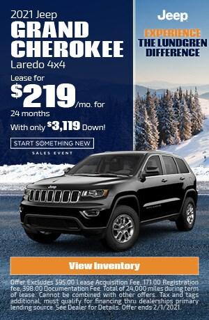 January | 2021 Jeep Grand Cherokee Laredo 4x4 | Lease