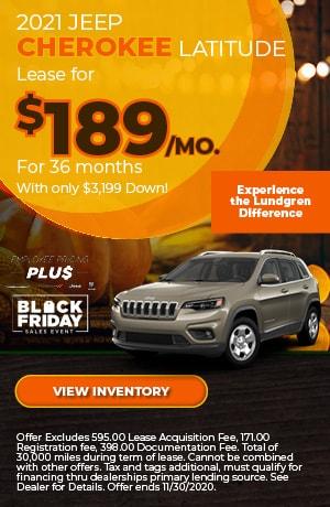 November | 2021 Jeep Cherokee Latitude | Lease