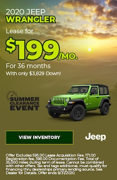 August | 2020 Jeep Wrangler | Special