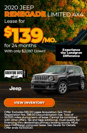 October 2020 Jeep Renegade Limited 4x4