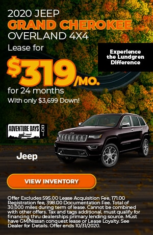 October 2020 Jeep Grand Cherokee Overland 4X4