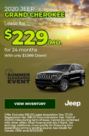August | 2020 Jeep Grand Cherokee | Special