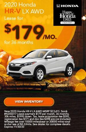 November   2020 Honda HR-V   Lease