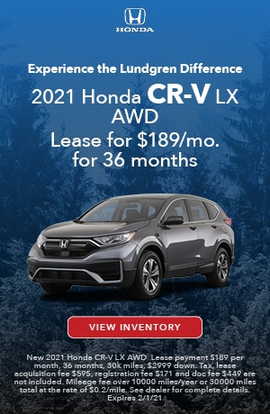 January | 2021 CR- V LX | Lease