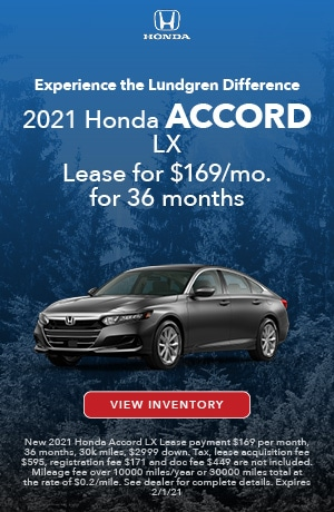 January | 2021 Accord LX | Lease