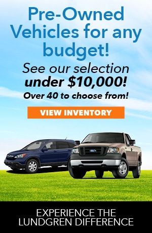 Pre-Owned Vehicles Offers under $10,000