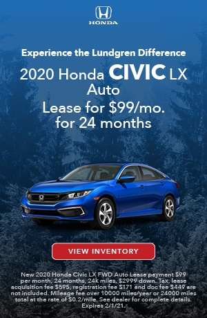 January | 2020 Civic LX | Lease