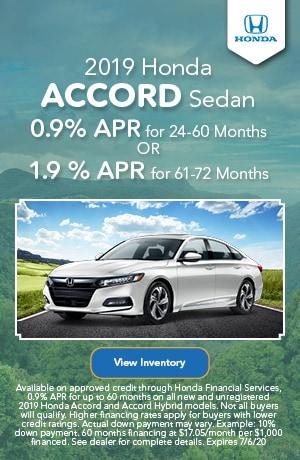 June | 2019 Honda Accord Sedan | Finance