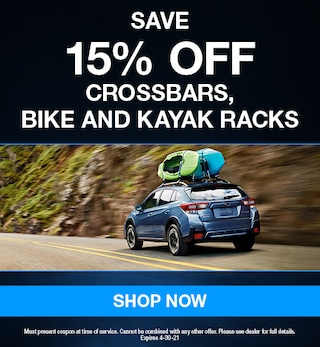 Save 15% Off Crossbars, Bike and Kayak Racks