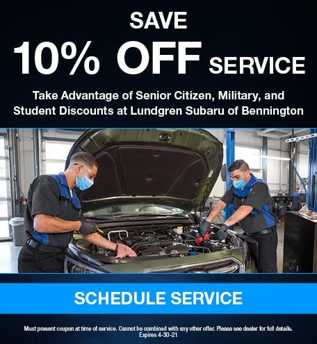 Save 10% Off Service