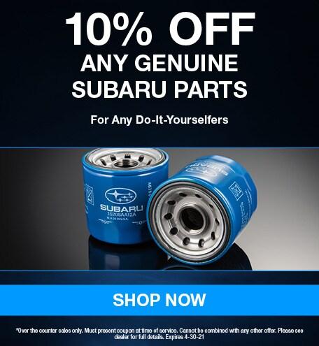 10% Off Any Genuine Subaru Parts