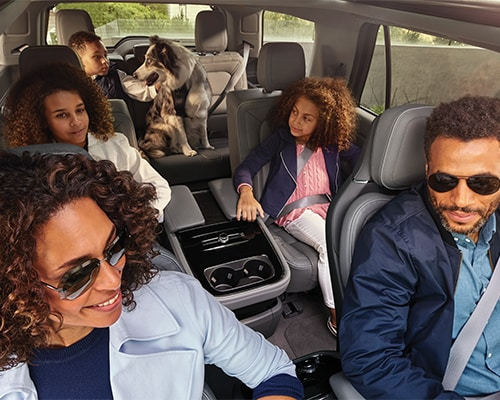 Family in a Lincoln