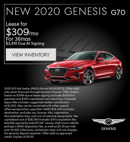New 2020 Genesis G70