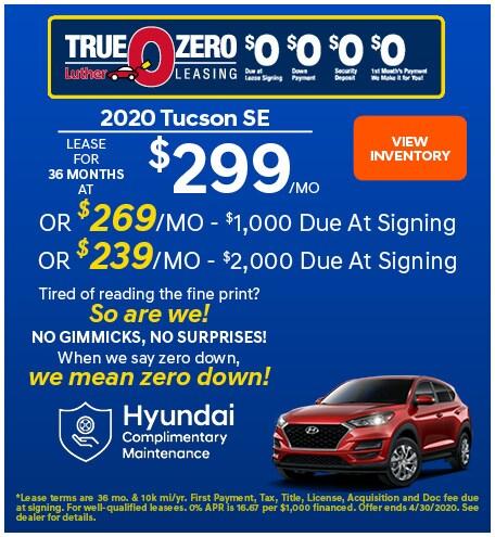 April 2020 Tucson Lease