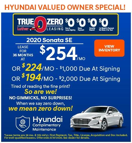 May 2020 Sonata Lease