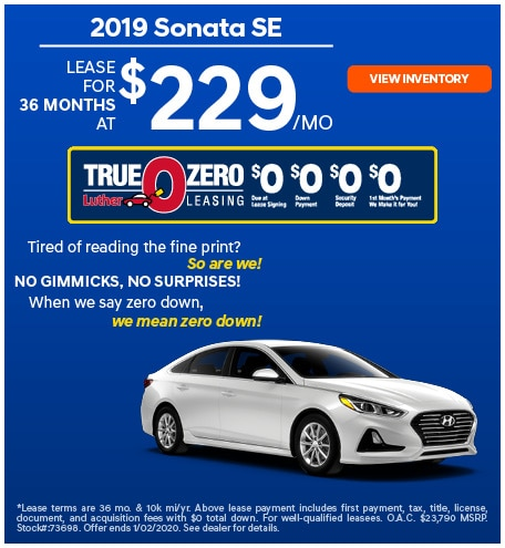 2019 Sonata SE December Offer