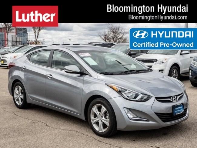 Certified  2016 Hyundai Elantra Value Edition Sedan Bloomington
