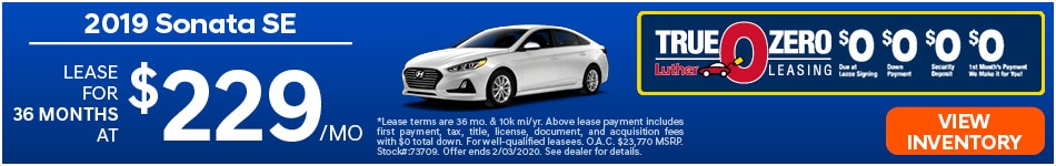 January 2019 Hyundai Sonata Lease