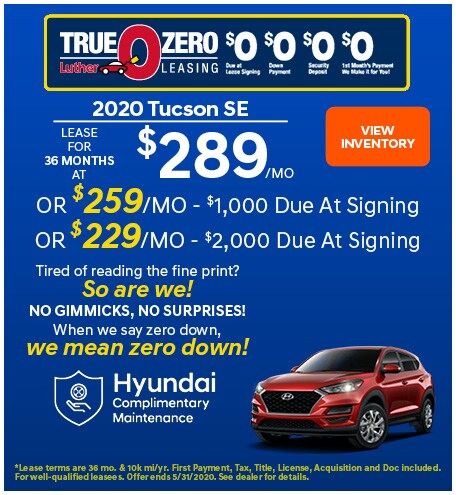 May 2020 Tucson Lease