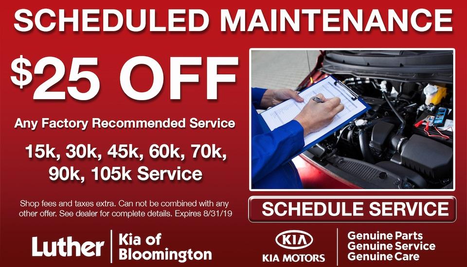 $25 Off Scheduled Maintenance